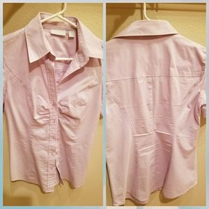 Pink button down blouse